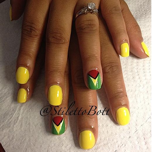 carnival nails: stiletto bott