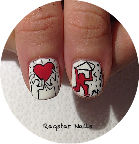 raqstarnails keith harring