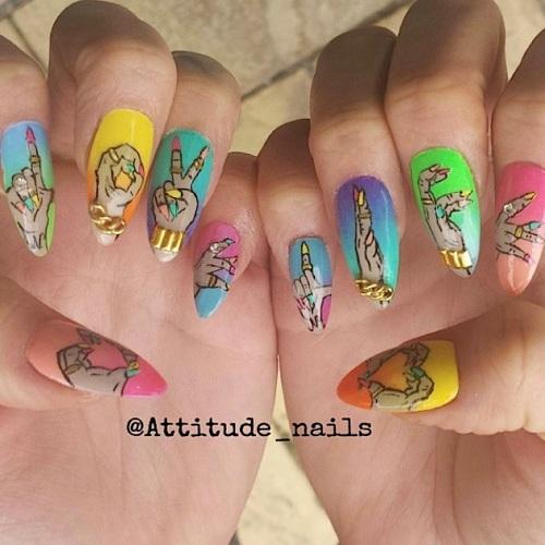 attitude nails live