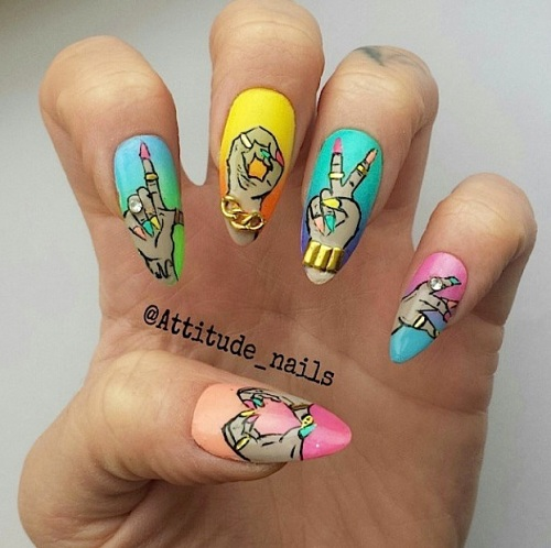 attitude nails love