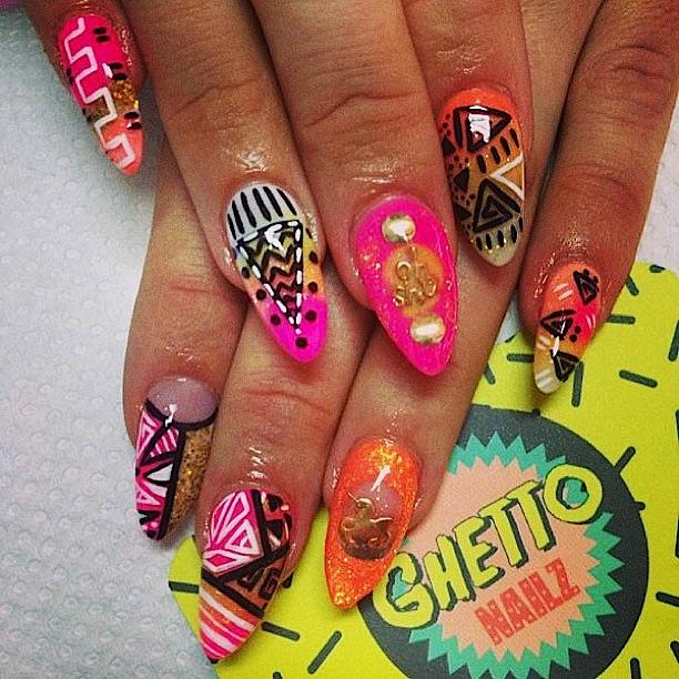 outstanding ghetto nail art 11 looks inspiration article - Ghetto Nail Art – Slybury.com
