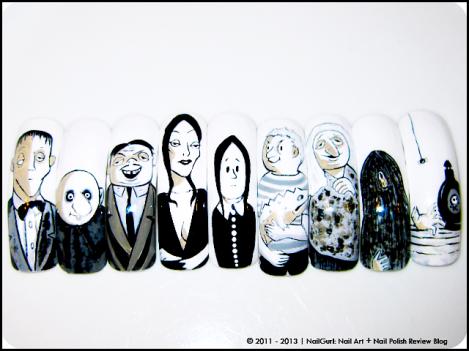 nail gurl addams family
